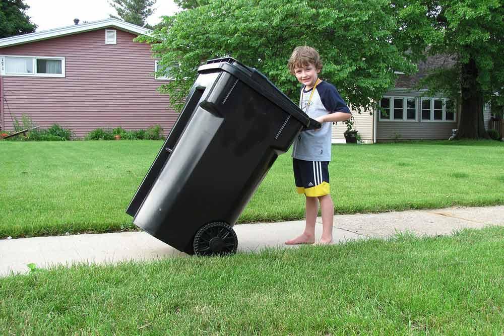 Types d'ordures ménagères